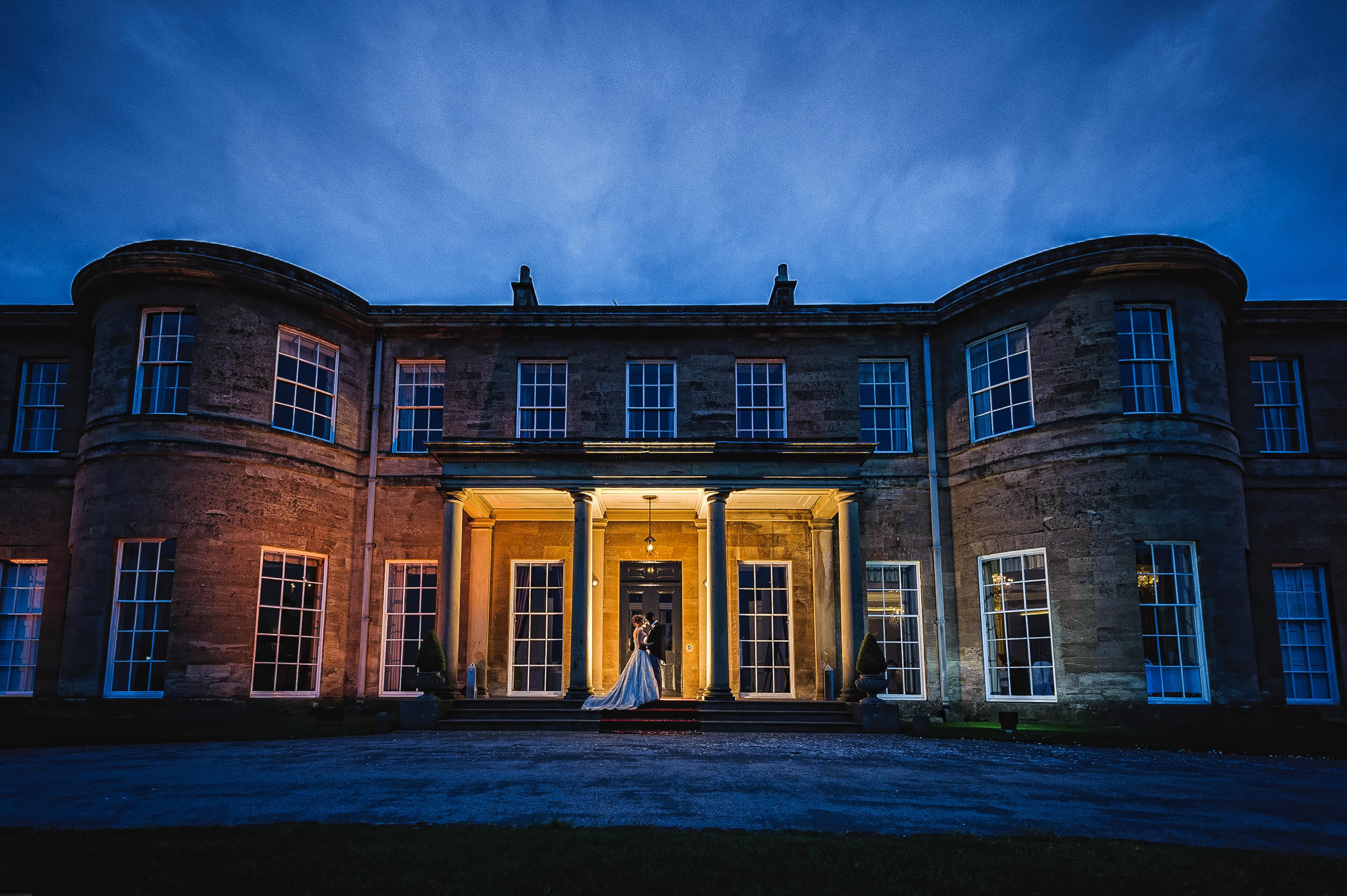 rudding park hotel wedding photography at night