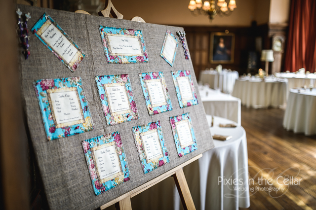 Hessian table plan cheshire Wedding Photography
