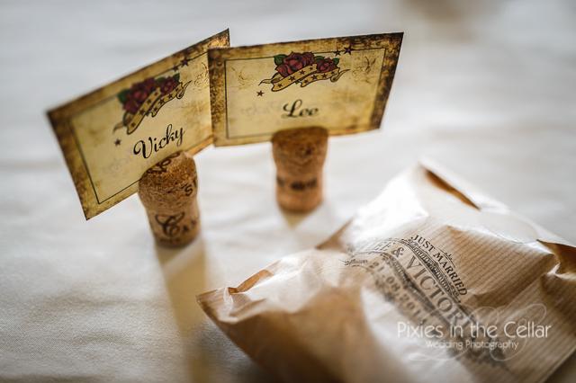 Tattoo themed wedding UK Photographer