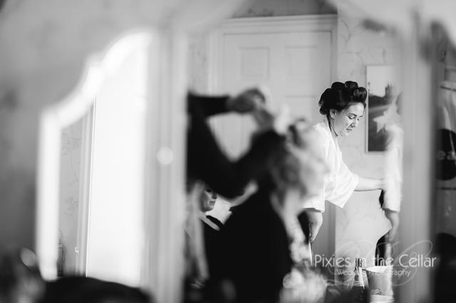 Bridal prep photography Arley Hall