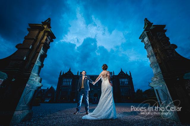 Tim Burton styled wedding photography