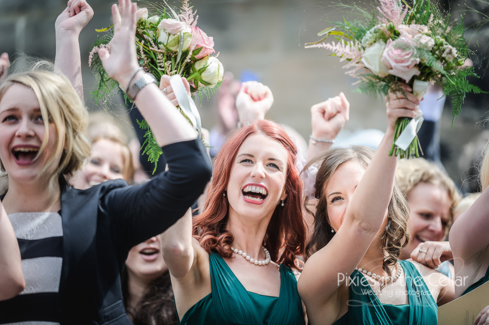 bridesmaids in green cheshire