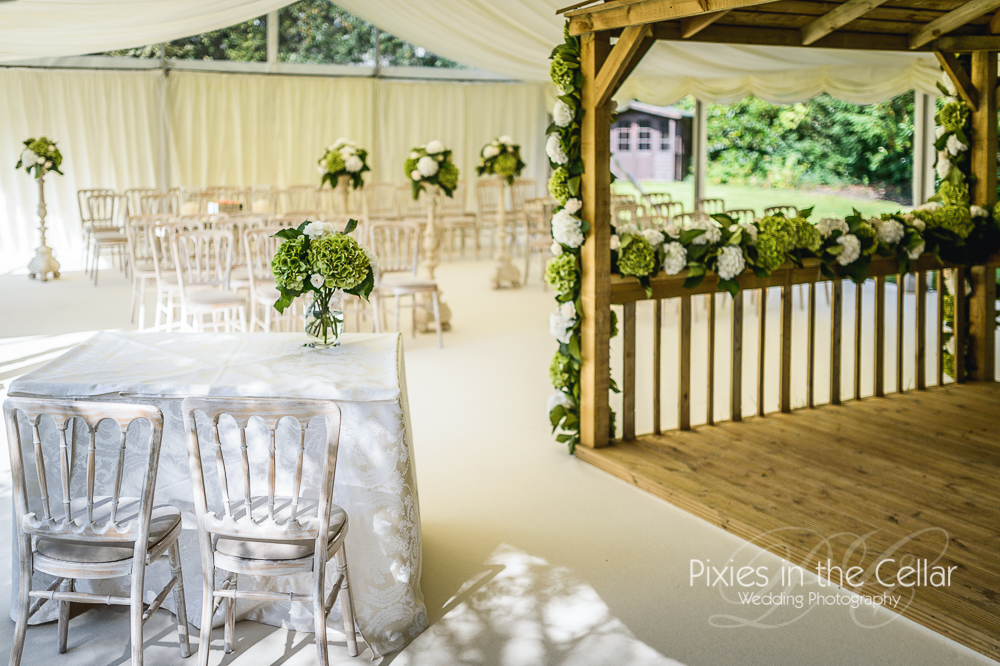 Dale Lodge Outdoor Wedding Ceremony