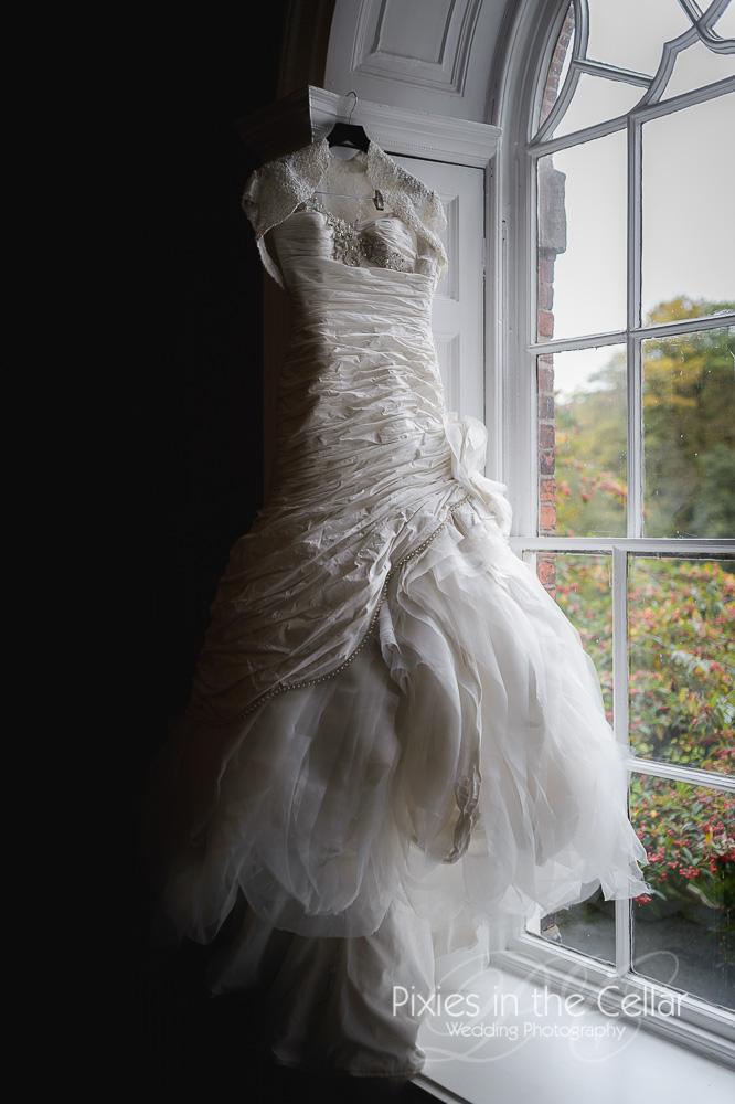 layered fairy tale wedding dress and bolero Cheshire