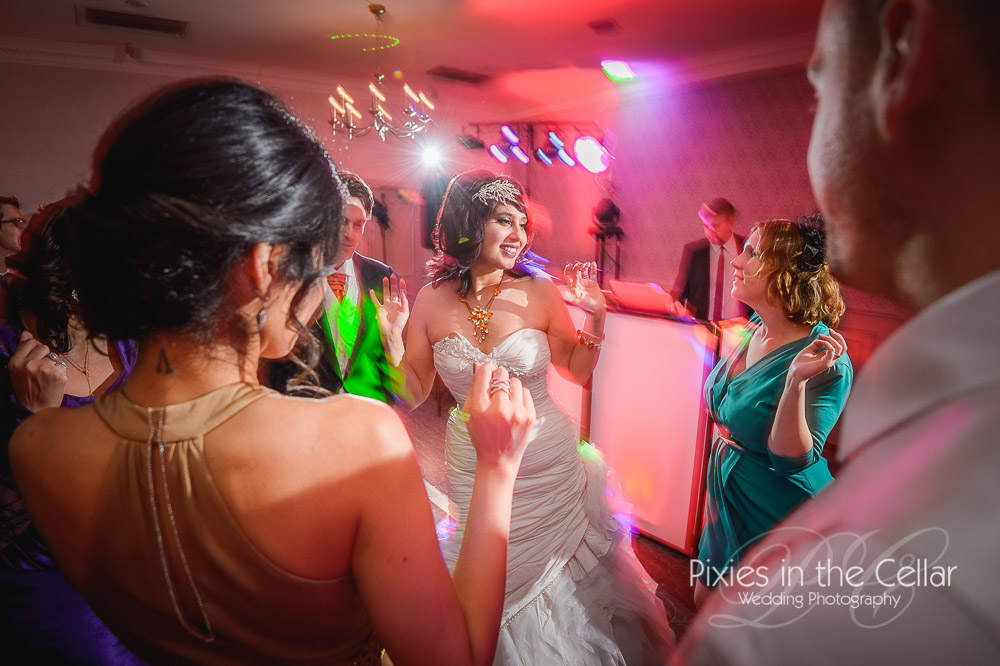 Evening wedding party Cheshire