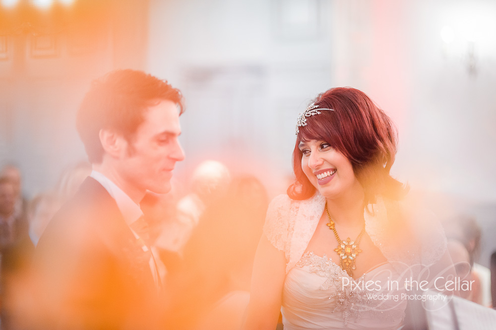 Mottram Hall wedding photographer at wedding ceremony Cheshire