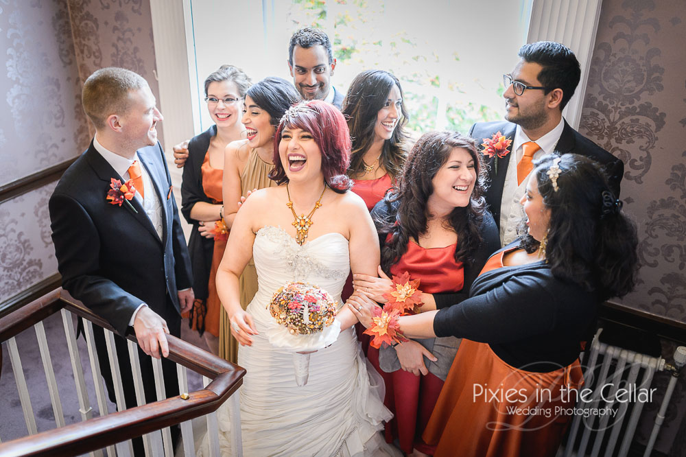 Mottram Hall wedding laughs