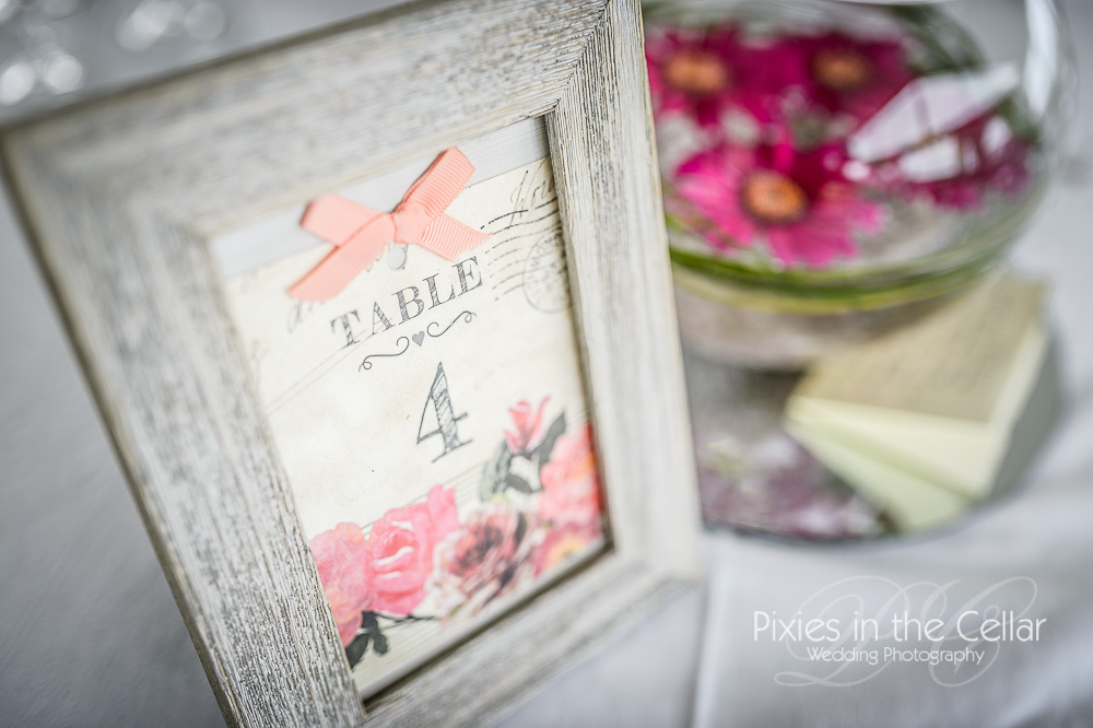 French rustic wedding table numbers