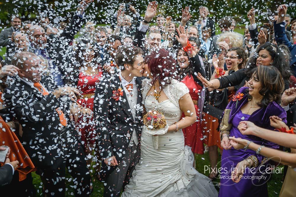Silver Wedding confetti Cheshire