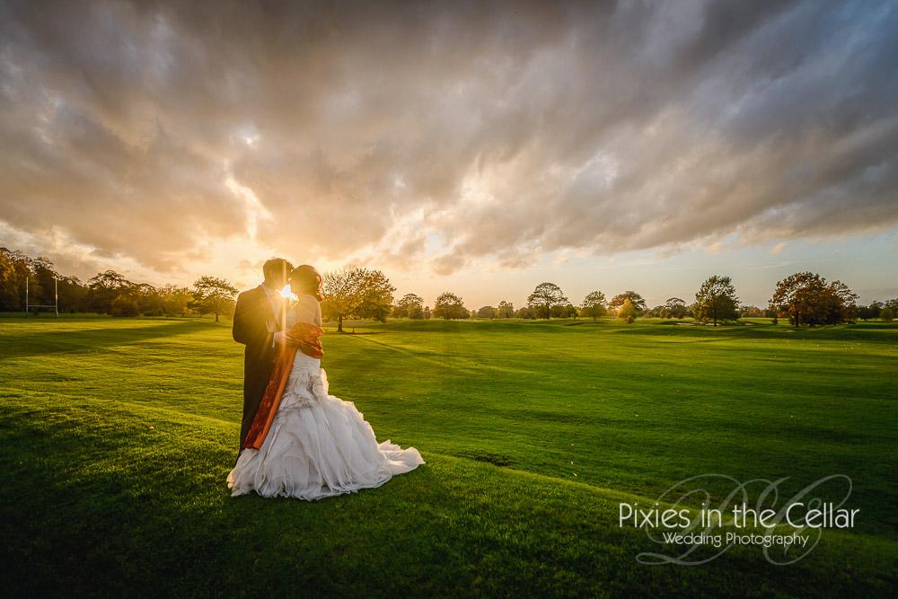 Sunset Mottram Hall wedding