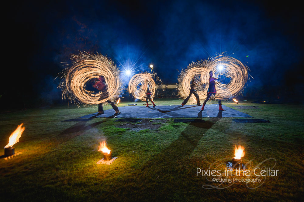 Acrobatic-fire-show-wedding