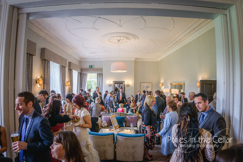 Mottram Hall Wedding reception drinks