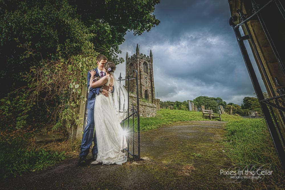 Peak District Farm Wedding Photography Hartington church