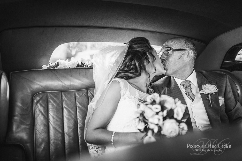 bride and father yorkshire wedding