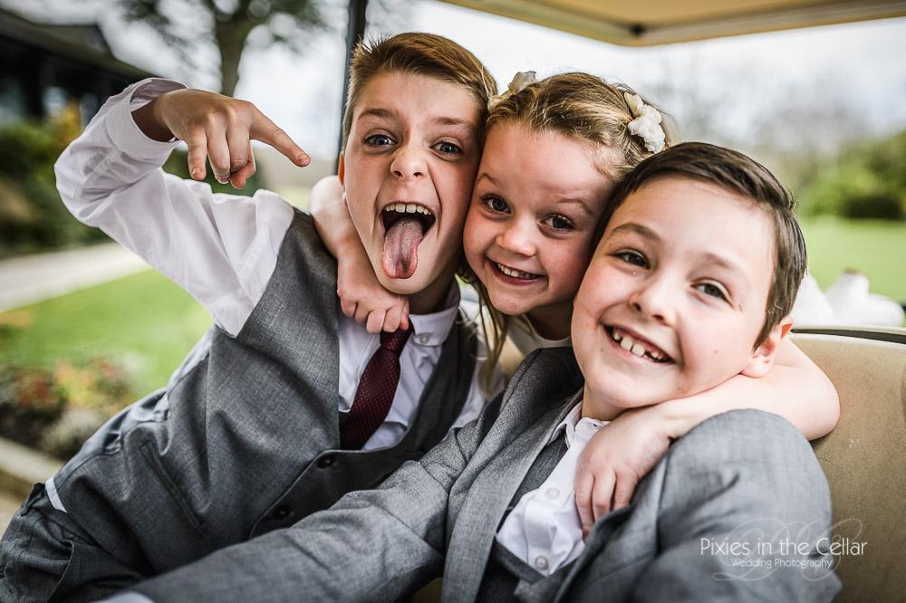smiley wedding children