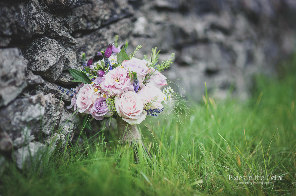 Rustic Wedding bouquet Lavender and rosemary