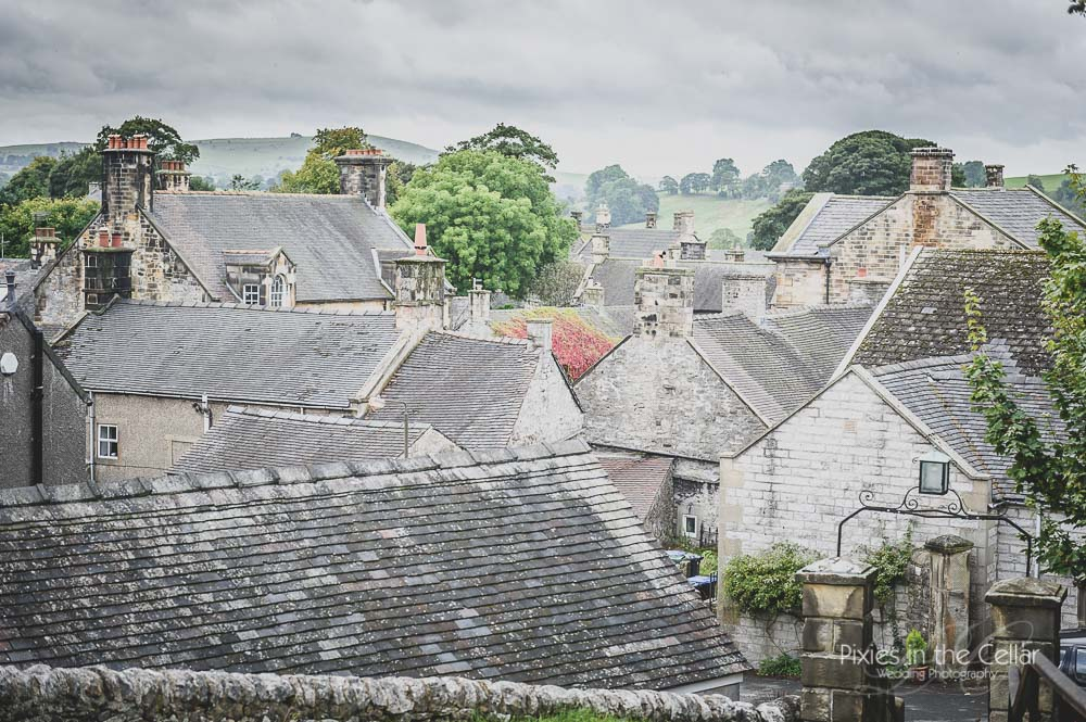 Hartington roof tops from church yard