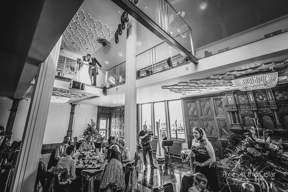 Saddleworth Hotel ballroom wedding reception
