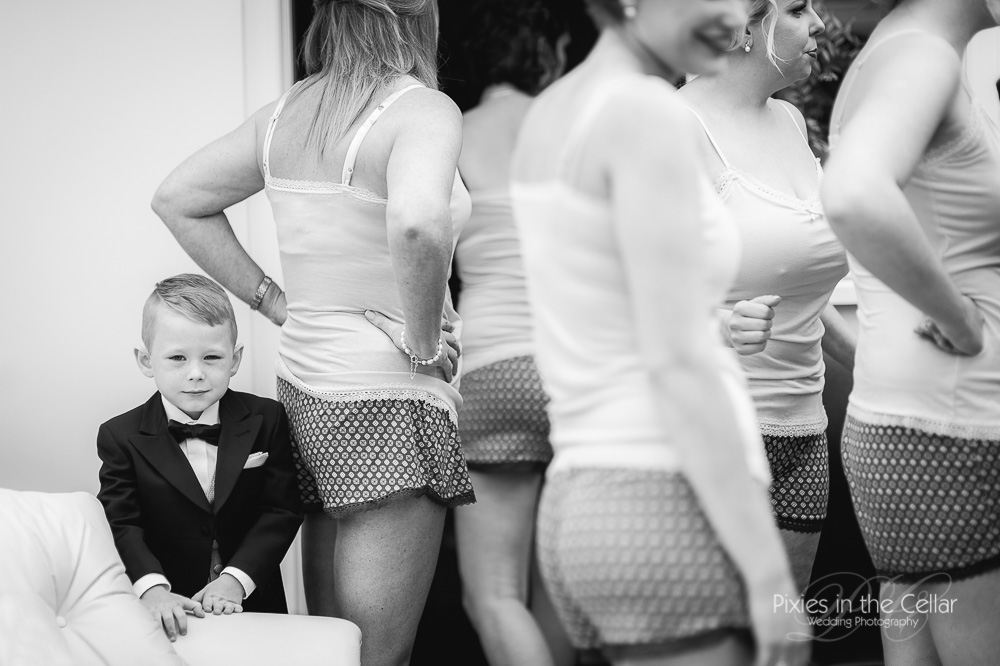 Cheeky pageboy manchester wedding photographers