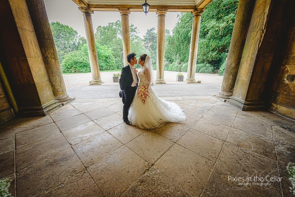 Prestwold Hall Wedding bride and groom