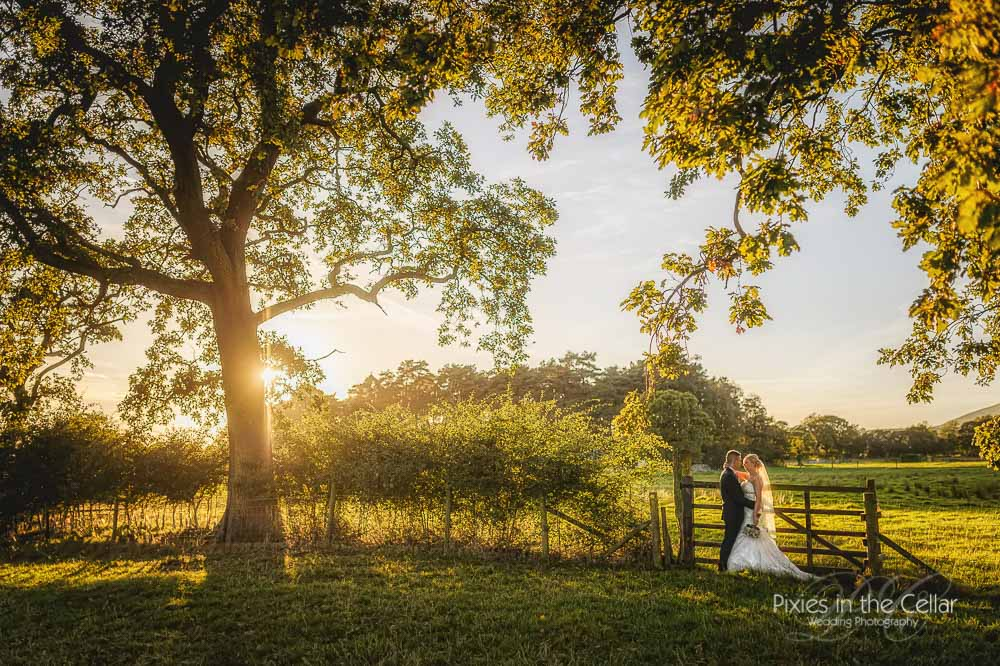 Gibbon Bridge Wedding Evening light