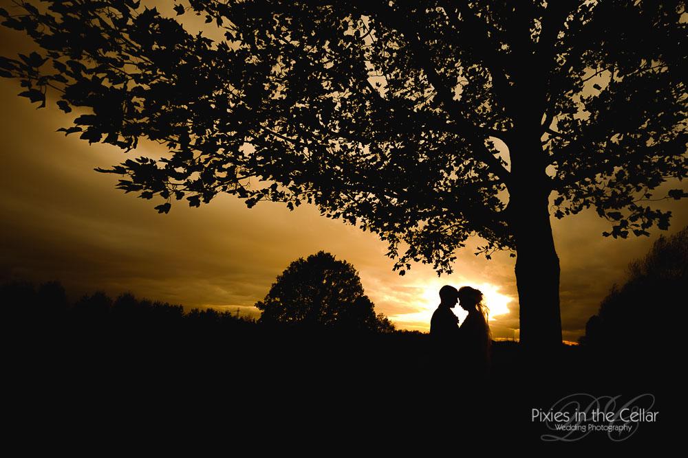 Manchester wedding sunset