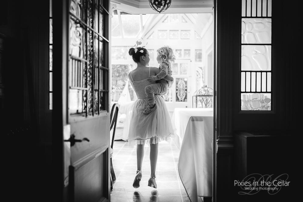 Jumping bridesmaid Crowhill Marsden Wedding