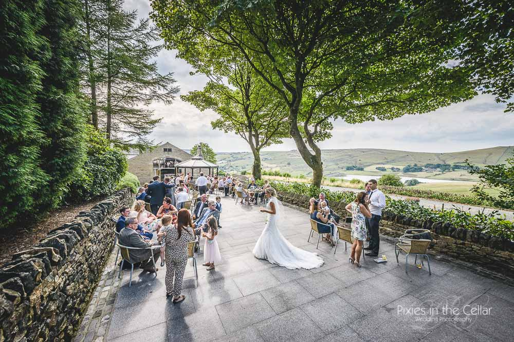 Manchester summer wedding reception
