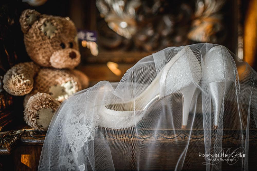 wedding shoes teddy bear