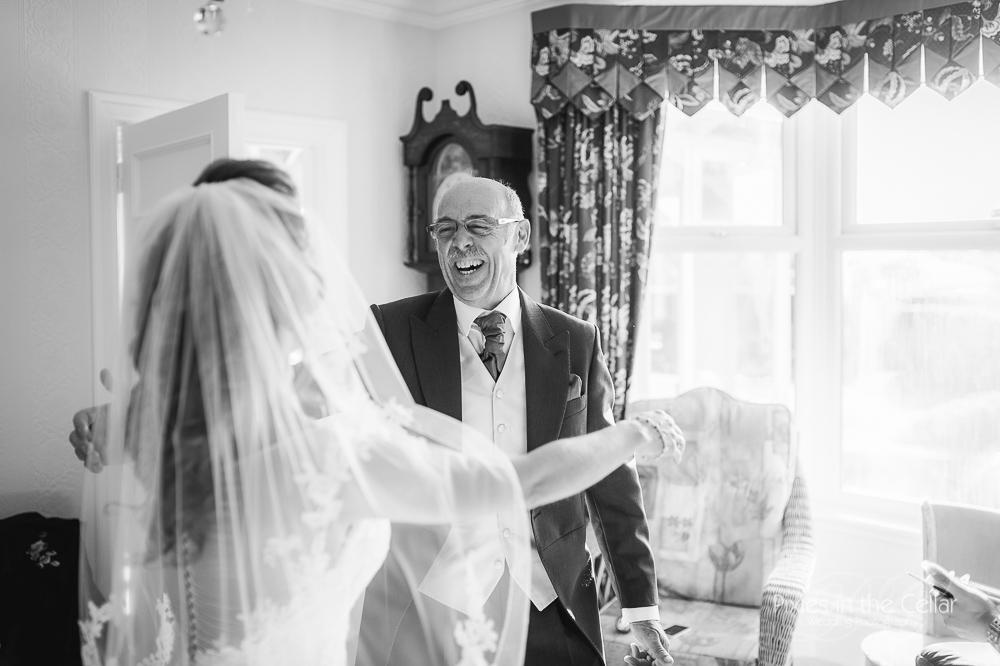 dad and bride yorkshire wedding