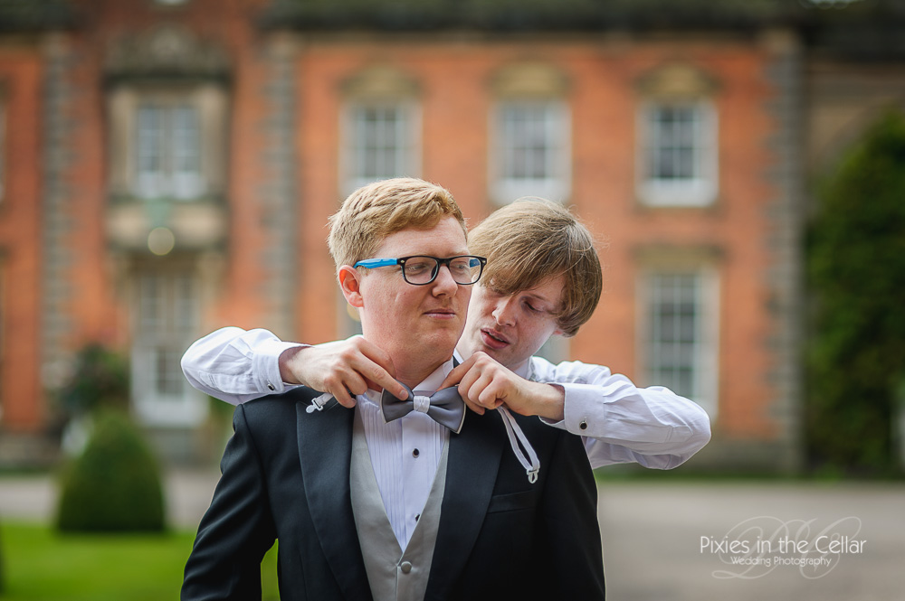 bow tie groom and best man