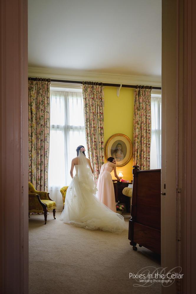 wedding prep capesthorne hall