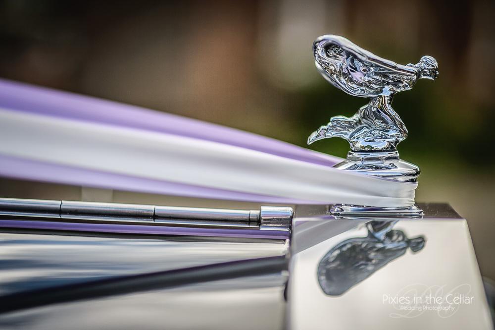rolls wedding car detail