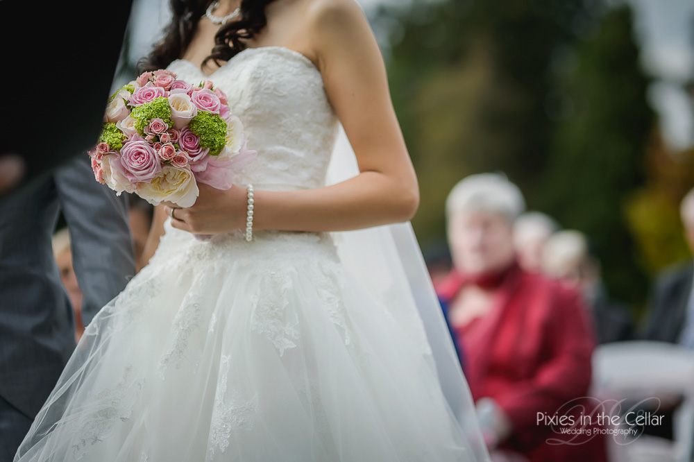 cheshire bride pink and pearls