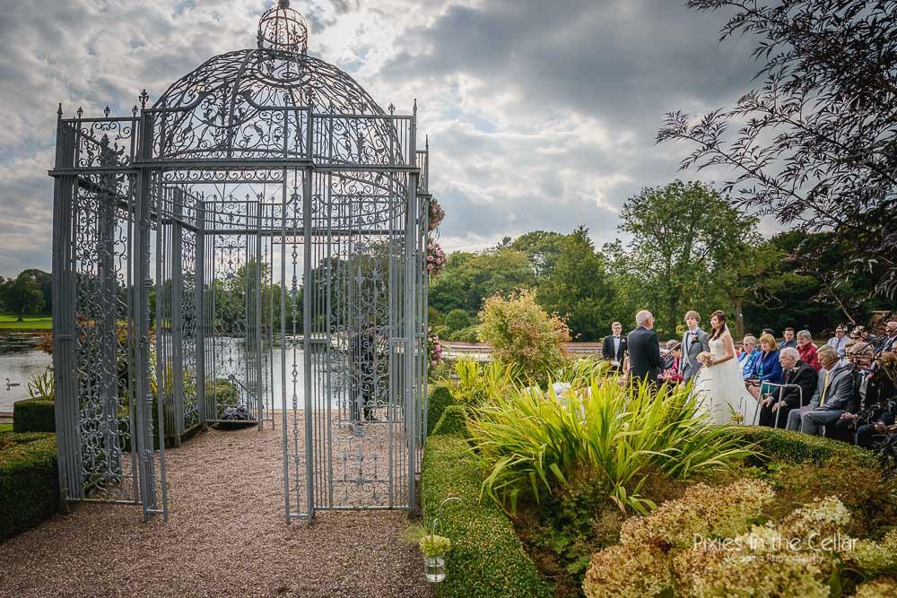 Capesthorne gazebo wedding cheshire