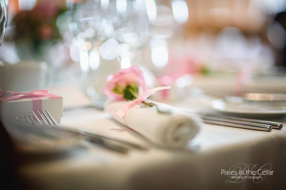 pink rose serviette