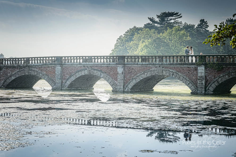 summer wedding capesthorne hall bridge