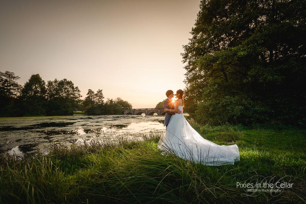 Cheshire wedding sunset