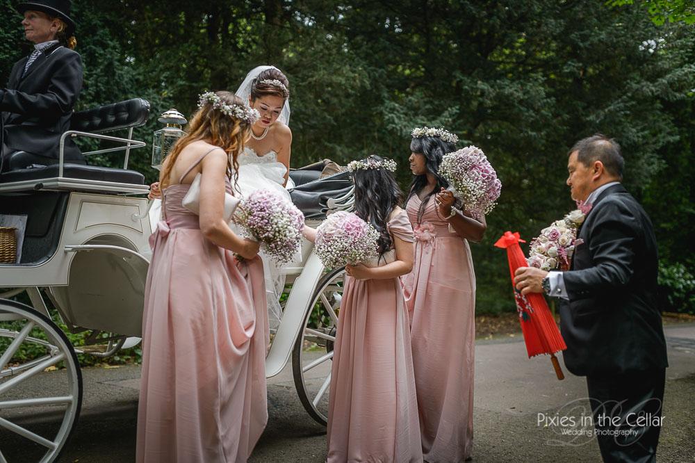 Bride arrival at St.Andrews Prestwold Hall
