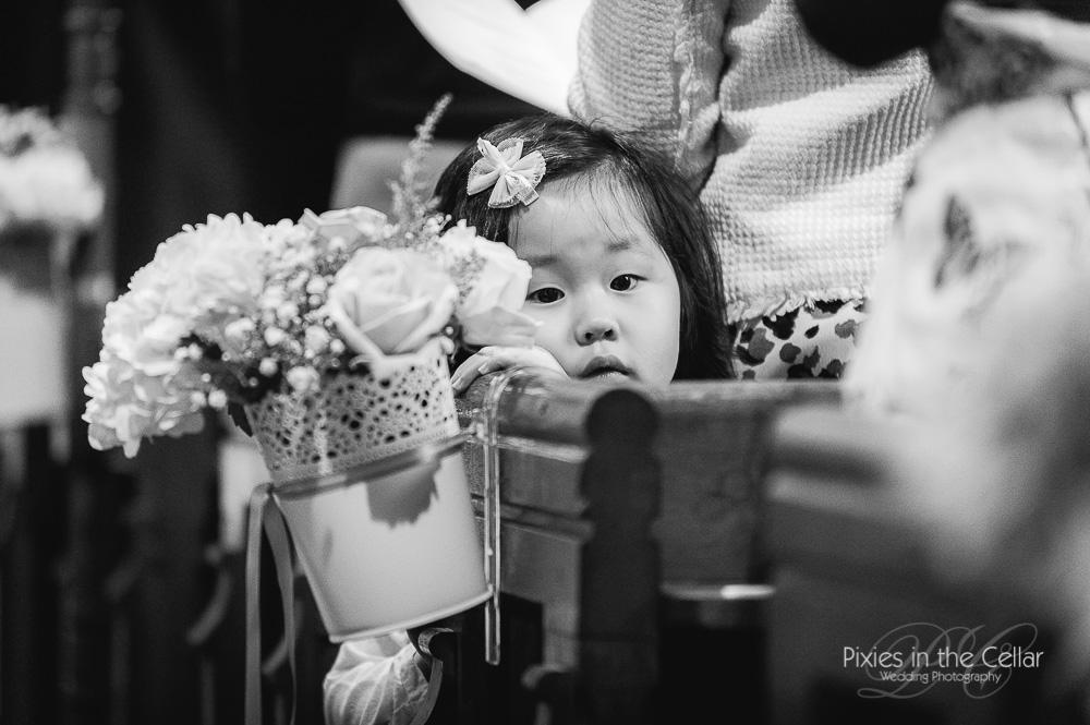 child in church wedding