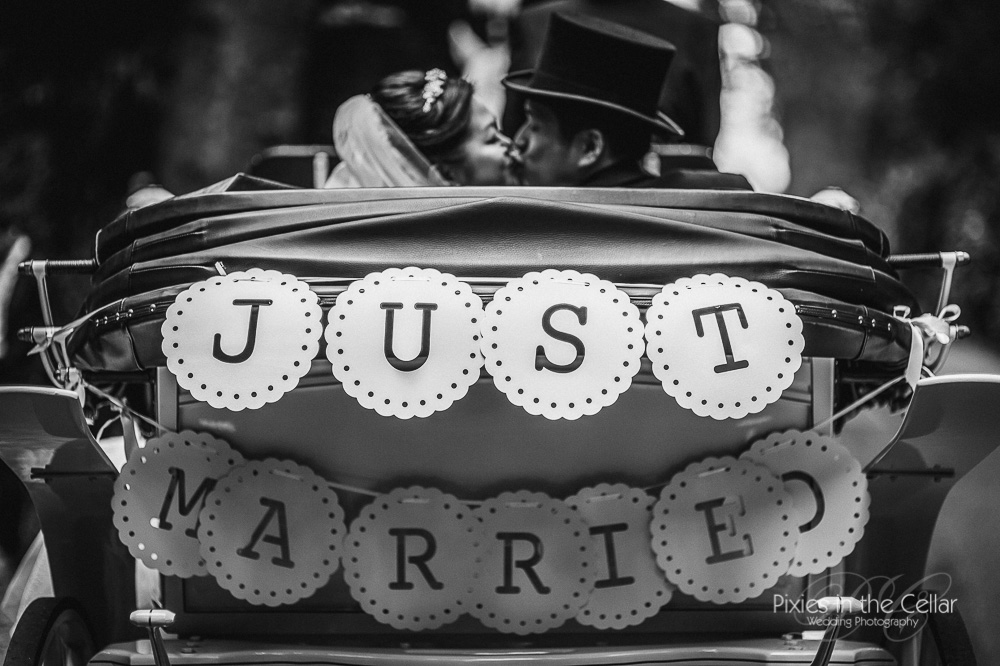 just married sign prestwold hall