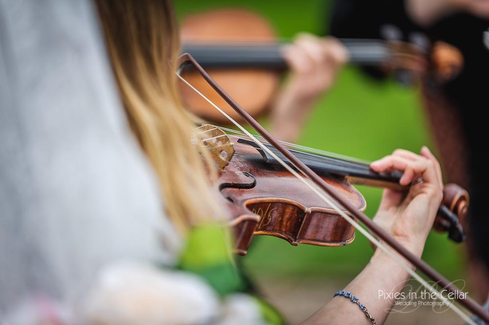 Wedding string quartet detail
