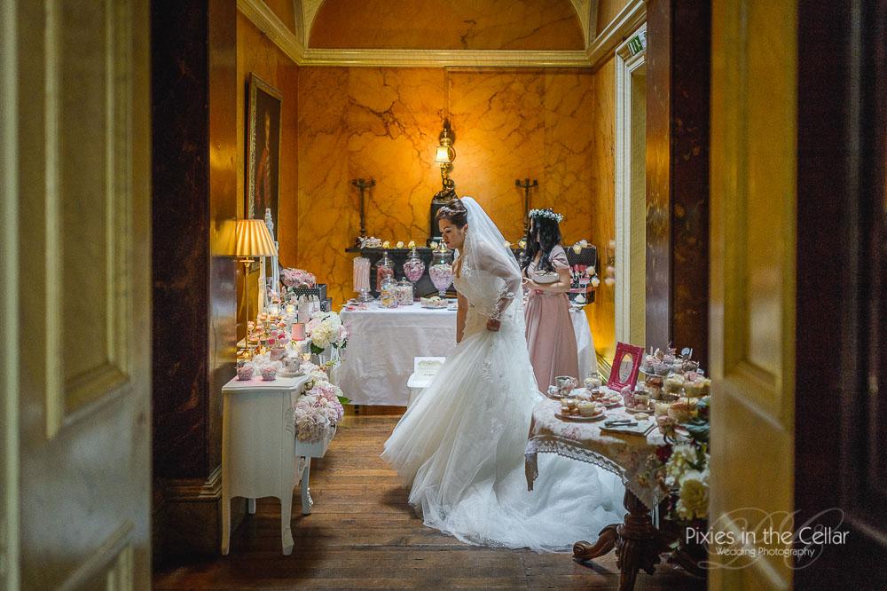 Sweet table prestwold hall wedding