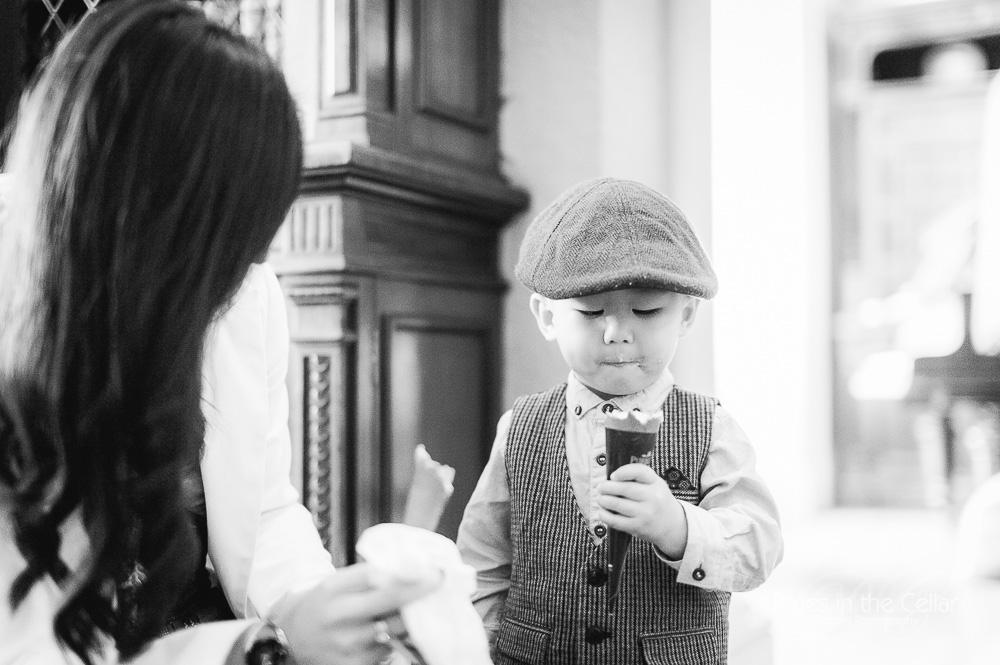 Wedding ice cream child