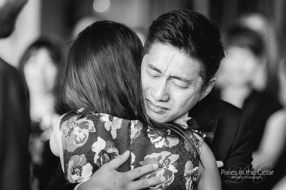 emotional groom prestwold hall wedding