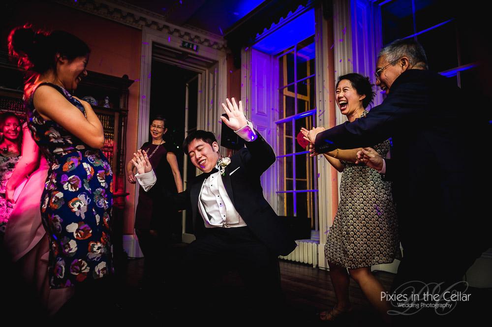 Prestwold Hall Wedding party