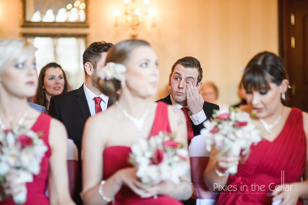 wedding ceremony tears