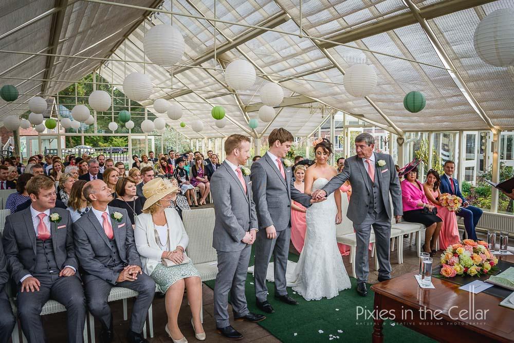 Abbeywood estate wedding ceremony