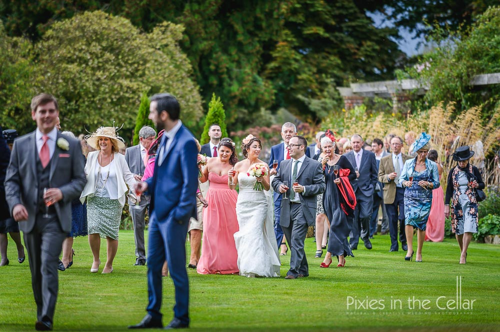Abbeywood estate wedding guests