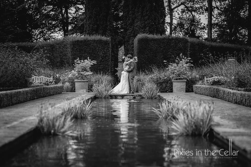 Abbeywood estate wedding bride and groom